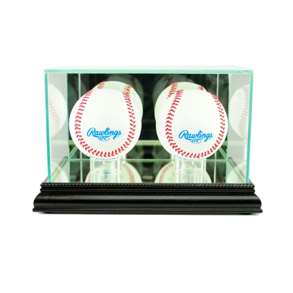 Double Baseball Display Case by Perfect Cases and Frames