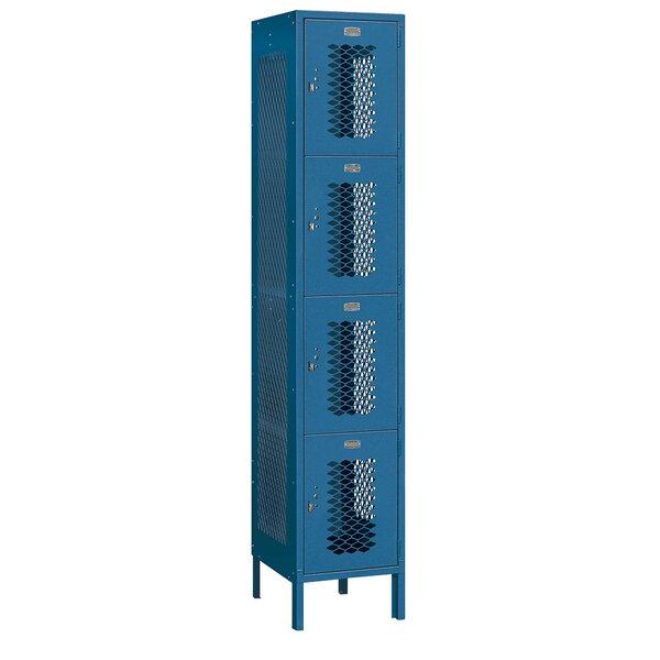 4 Tier 1 Wide Employee Locker by Salsbury Industries4 Tier 1 Wide Employee Locker by Salsbury Industries