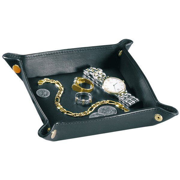 Royce Leather Travel valet jewelry tray in Vegan Leather by Royce Leather