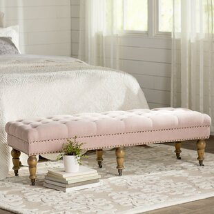 Savings Ambrine Upholstered Bench by Lark Manor