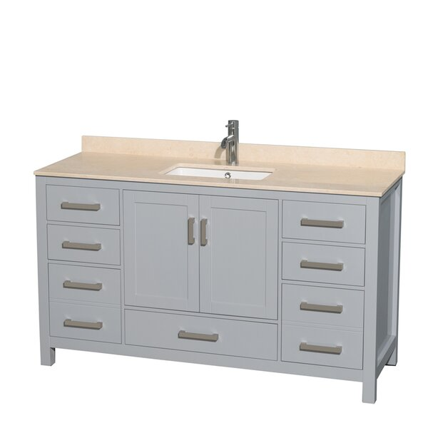 Sheffield 60 Single Bathroom Vanity Set by Wyndham Collection