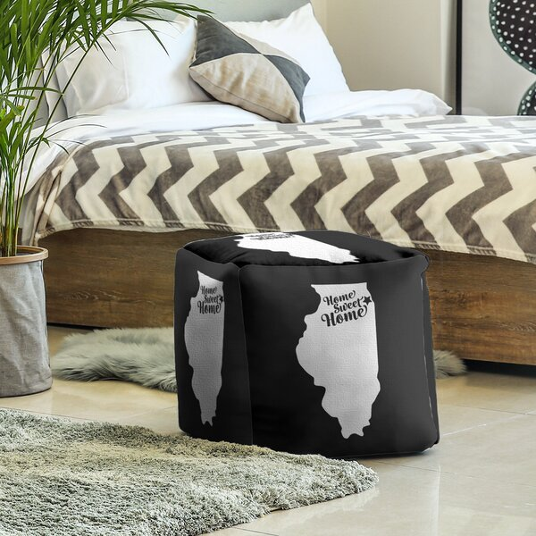 Home Sweet Chicago Cube Ottoman by East Urban Home East Urban Home