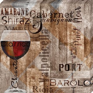 'Classic Red Wines' by Lisa Wolk Graphic Art on Wrapped Canvas by Artistic Reflections