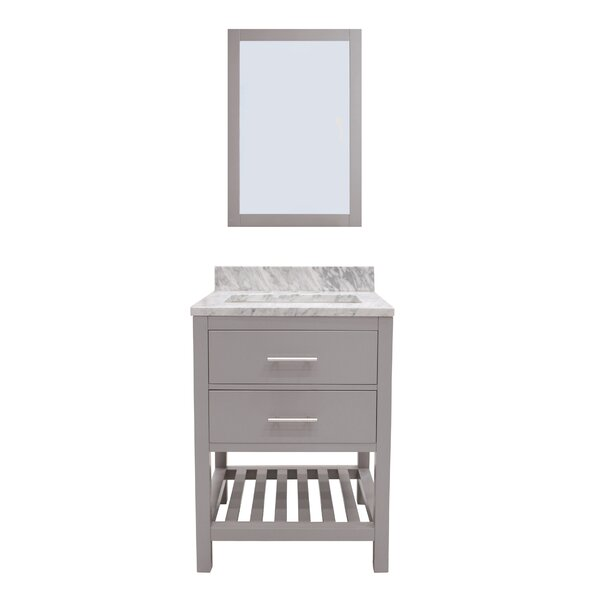 Rizer 24 Single Bathroom Vanity with Mirror by Willa Arlo Interiors