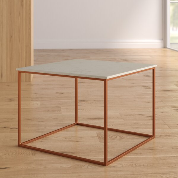 Florian Marble and Metal Coffee Table by Brayden Studio