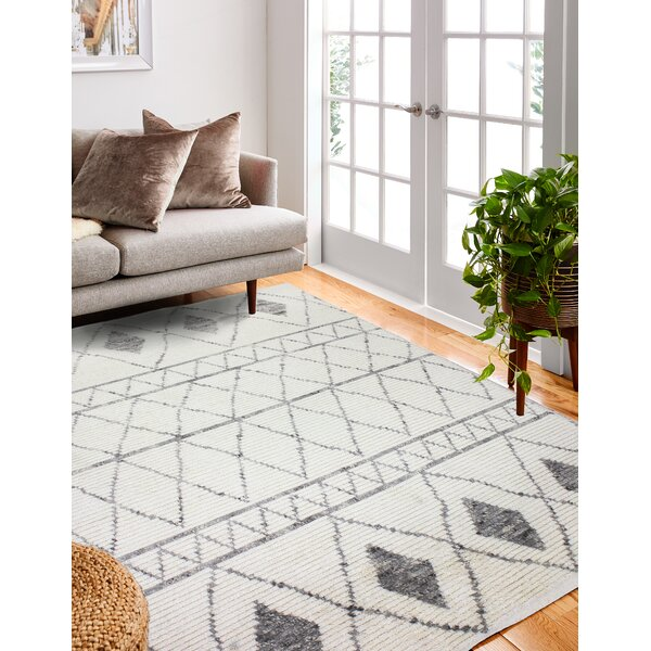 Daryl Hand-Knotted Wool Ivory Area Rug by Mistana