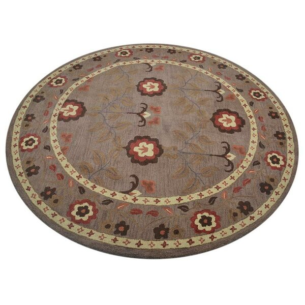 Creager Hand-Tufted Wool Beige Area Rug by Winston Porter