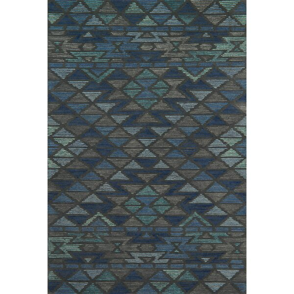 Wingman Hand-Tufted Blue/Gray Area Rug by Brayden Studio