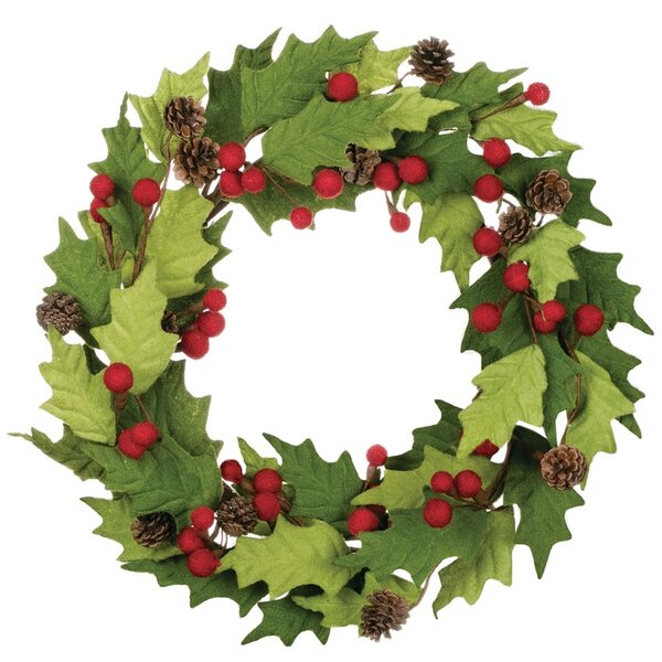 Holly and Berry Felt Wreath by The Holiday Aisle