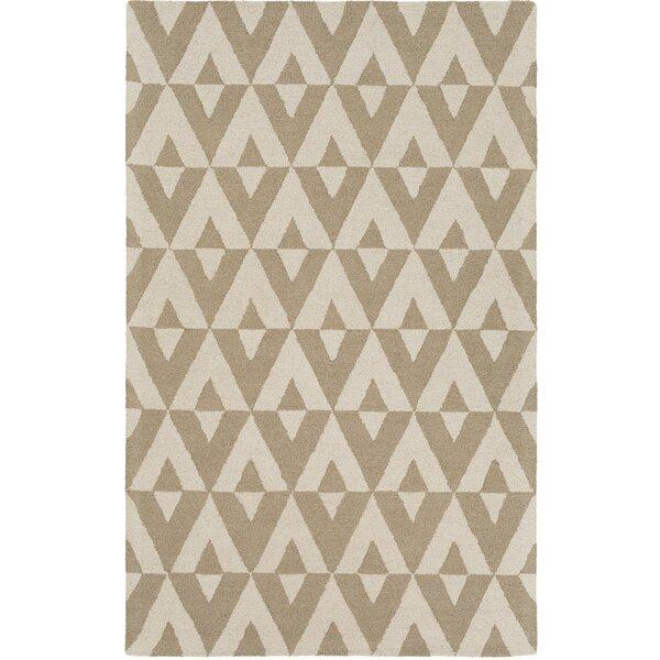 Zabel Hand-Tufted Sand/Ivory Area Rug by George Oliver