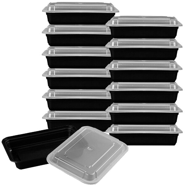 Chase Premium Meal Prep 28 Oz. Food Storage Container (Set of 12) by Rebrilliant
