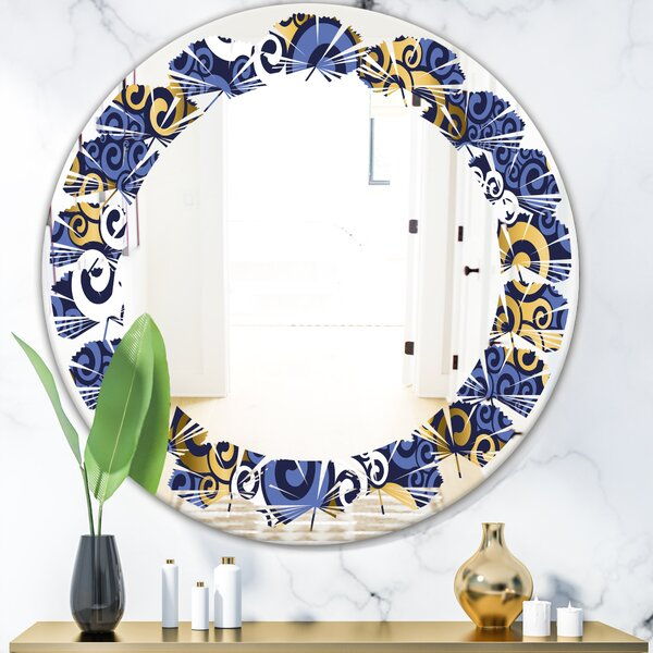 Leaves Luxury Waves III Traditional Frameless Wall Mirror