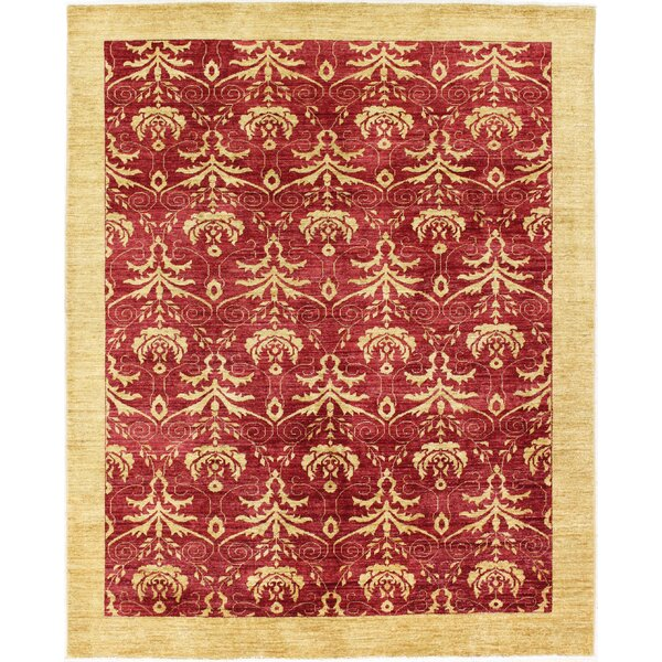 One-of-a-Kind Barfield Hand-Woven Wool Red/Gold Area Rug by Canora Grey
