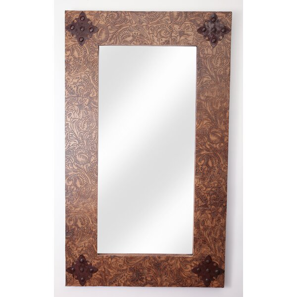 Ranch Tooled Rustic Accent Mirror by My Amigos Imports