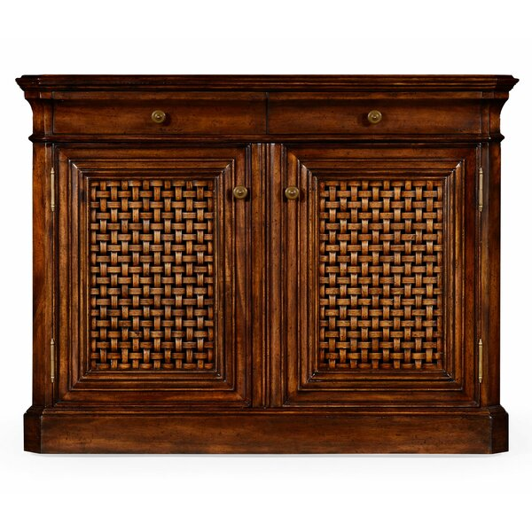 Latticework 2 Door Accent Cabinet by Jonathan Charles Fine Furniture