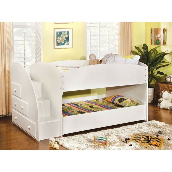 Craut Twin over Twin Bunk Bed with Drawer by Harriet Bee