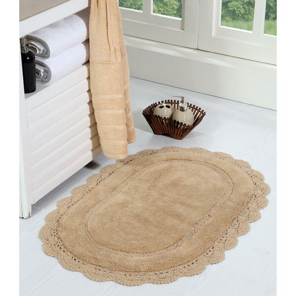 Winfree Oval Crochet Designer Bath Rug by Ophelia & Co.