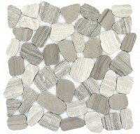 Cultura Pebbles 12 x 12 Marble Tile in Autumn by Emser Tile