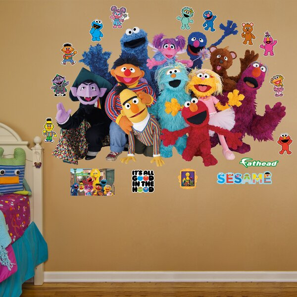 RealBig Sesame Street Group Wall Decal by Fathead