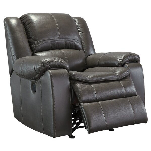 Long Knight Push Button Rocker Recliner by Signature Design by Ashley