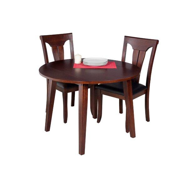 Dinh Modern 3 Piece Drop Leaf Solid Wood Dining Set by Latitude Run