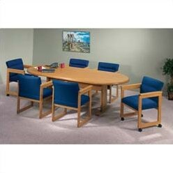 Contemporary Oval Conference Table by Lesro