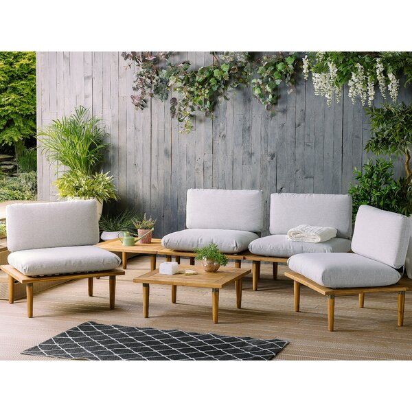 Dianne Outdoor 6 Piece with Cushions (Set of 6) by Wrought Studio