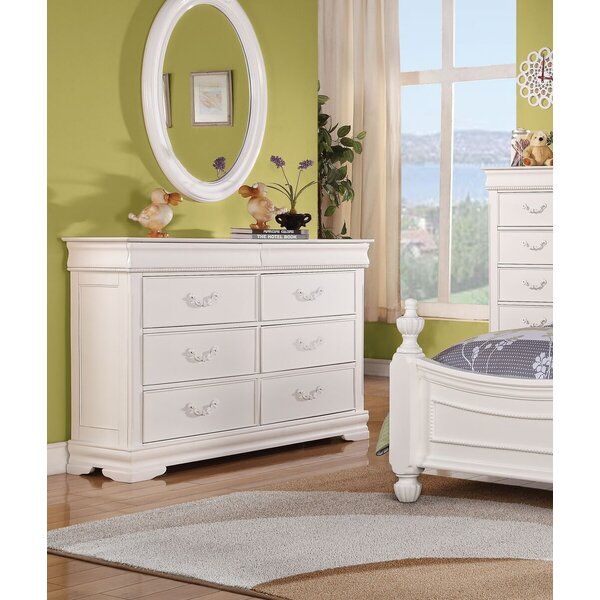 Eusebio 6 Drawer Double Dresser with Mirror by Harriet Bee