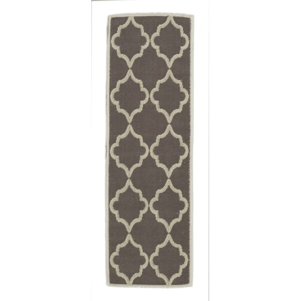 Bernadette Nature Cotton Brown Area Rug by Viv + Rae