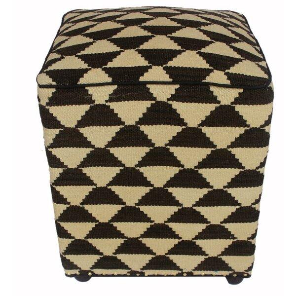 Strouse Kilim Cube Ottoman by Ebern Designs