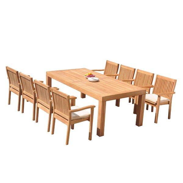 Maspeth 9 Piece Teak Dining Set
