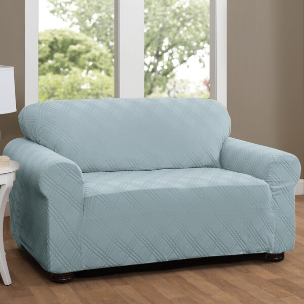 Double Diamond Sensations Box Cushion Sofa Slipcover by Red Barrel Studio