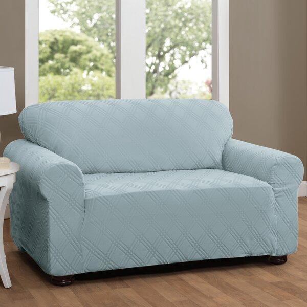 #1 Double Diamond Sensations Box Cushion Sofa Slipcover By Red Barrel Studio Wonderful