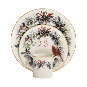 Winter Greetings 12 Piece Dinnerware Set, Service for 4