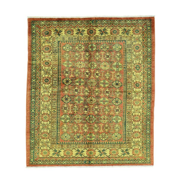 One-of-a-Kind Tillett Super Caucasian Hand-Knotted Red Area Rug by Millwood Pines