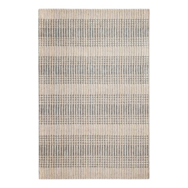 Tufted Hand-Woven Wool Beige/Gray Area Rug by Gracie Oaks