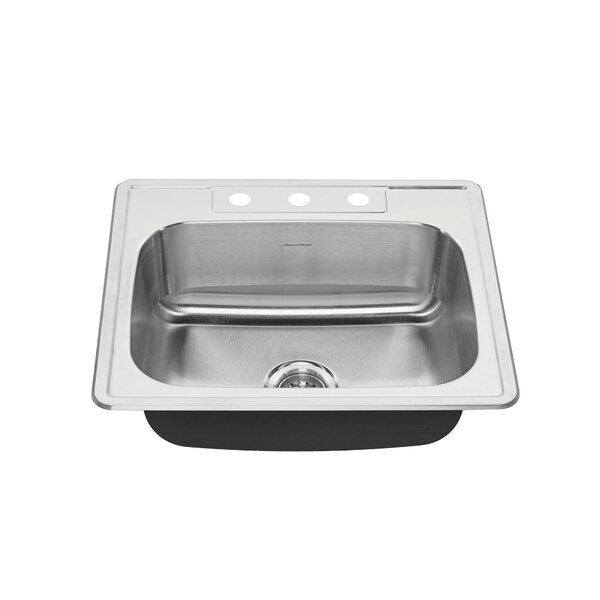 Colony 25 L x 22 W Single Bowl Drop-In Kitchen Sink by American Standard
