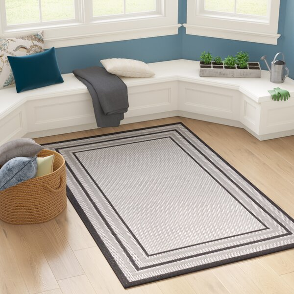 Sneller Gray Outdoor Area Rug by Bay Isle Home