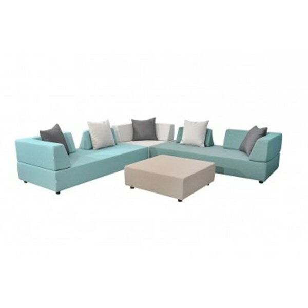 Merkley Patio 9 Piece Sectional Seating Group with Cushions by Latitude Run