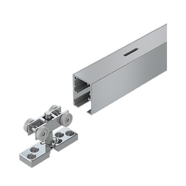 TopLine Grant Single Barn Door Hardware by Hettich