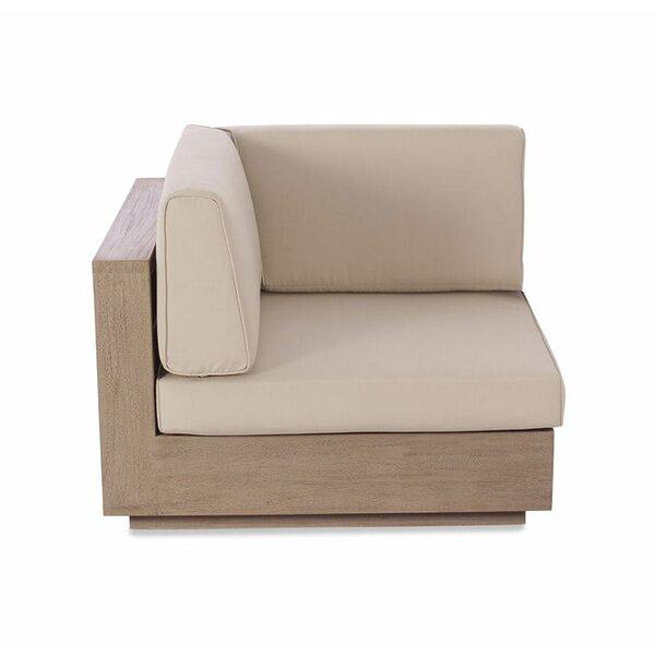 Isabella Deep Seating Corner Seat Teak Patio Chair with Sunbrella Cushions by Gracie Oaks