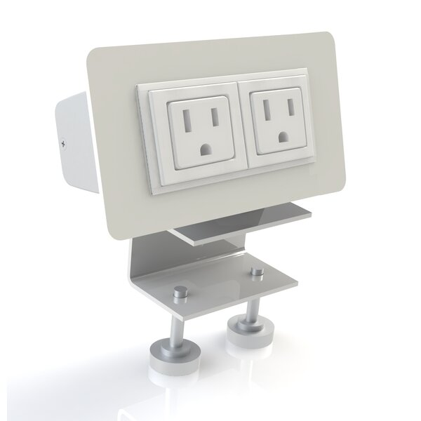 EYHOV Rail Desktop Mounted Power Unit with 2 Outlets by Scale 1:1