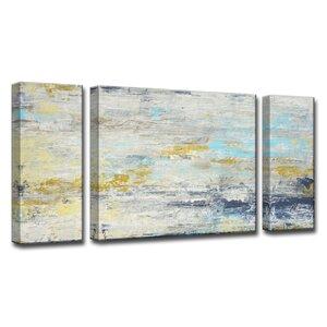 Surf and Sound I/II/III 3 Piece Painting Print on