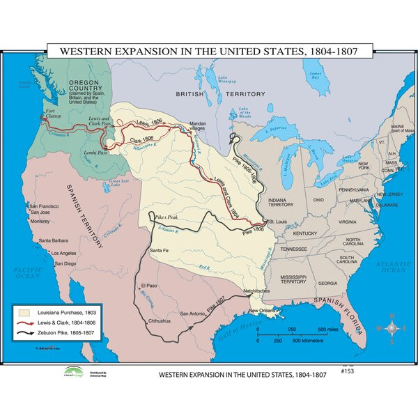 World History Wall Maps - Western Expansion in U.S. by Universal Map