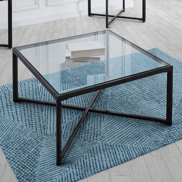 Gracie Oaks Glass Top Coffee Tables