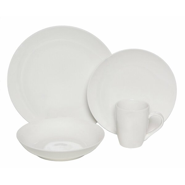 Premium Coupe 32 Piece Dinnerware Set, Service for 8 by Melange