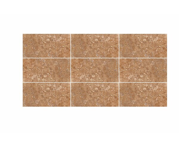 3 x 6 Travertine Subway Tile in Walnut Honed by Parvatile