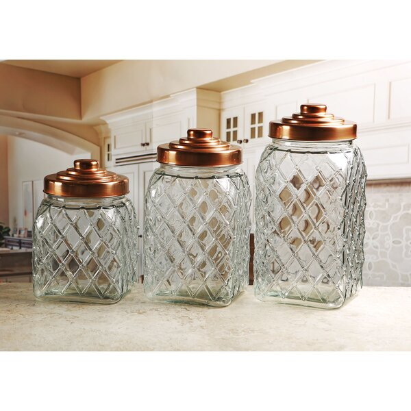 Copper Relic Embossed 3 Piece Kitchen Canister Set by Mint Pantry