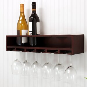 Claret 4 Bottle Wall Mounted Wine Rack by nexxt Design