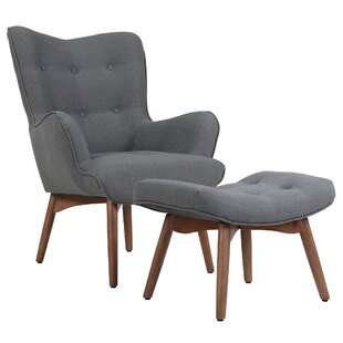 Ansley Lounge Chair and Ottoman by Corrigan Studio
